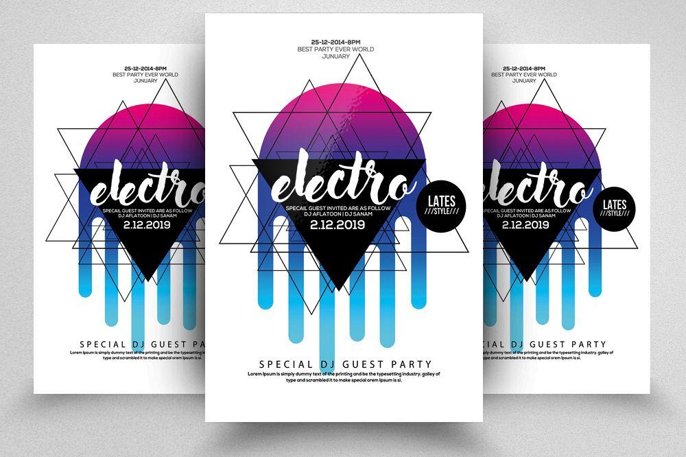 Electro Futuristic Flyer Template example image 1