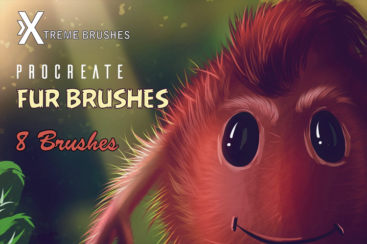 Procreate Fur Brushes example image 1