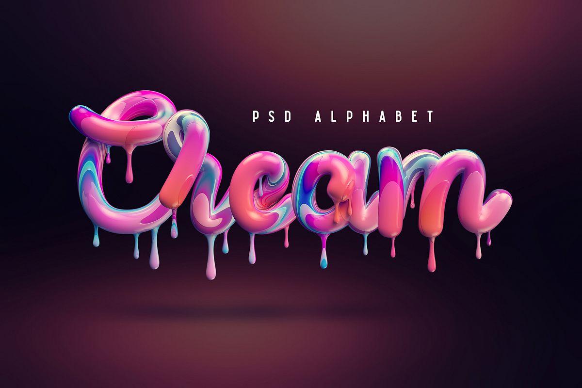Cream alphabet example image 1