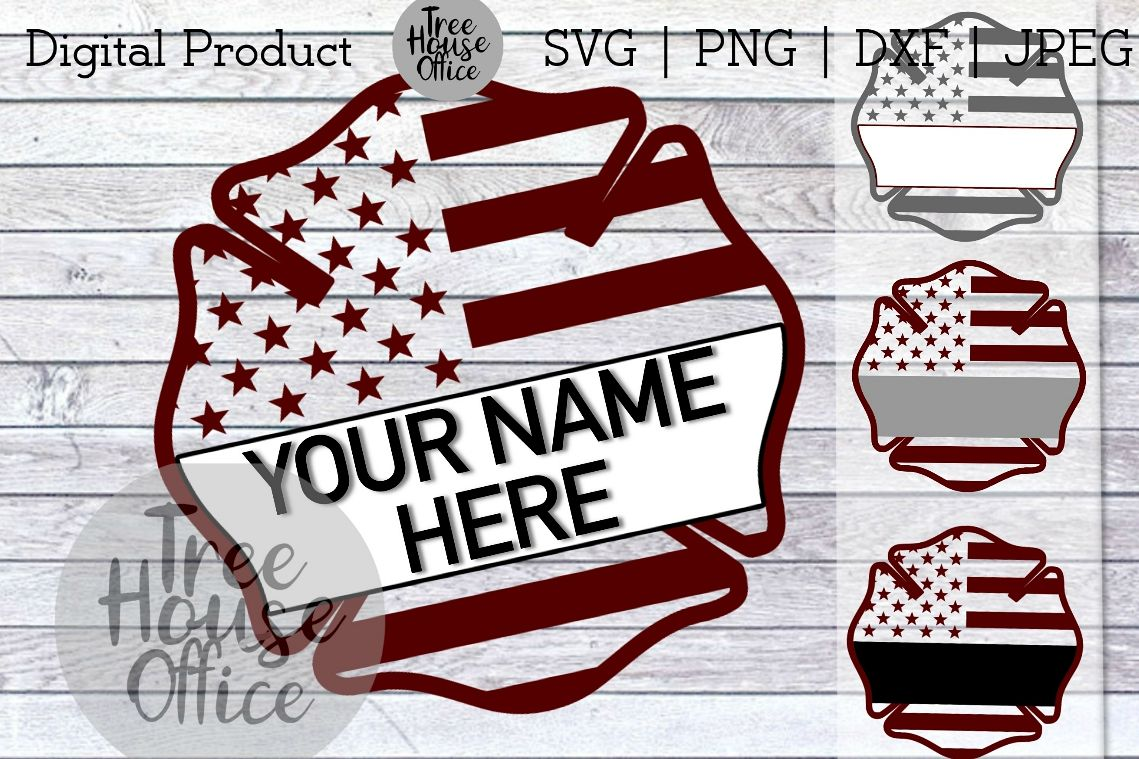 Personalized Maltese Cross Firefighter Customize SVG DXF JPG example image 1