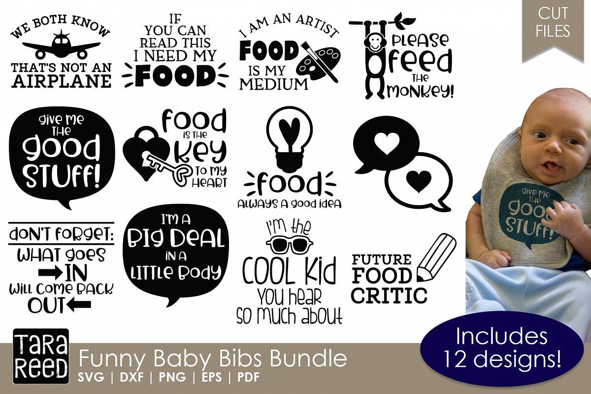 Funny Baby Bibs Bundle example image 1