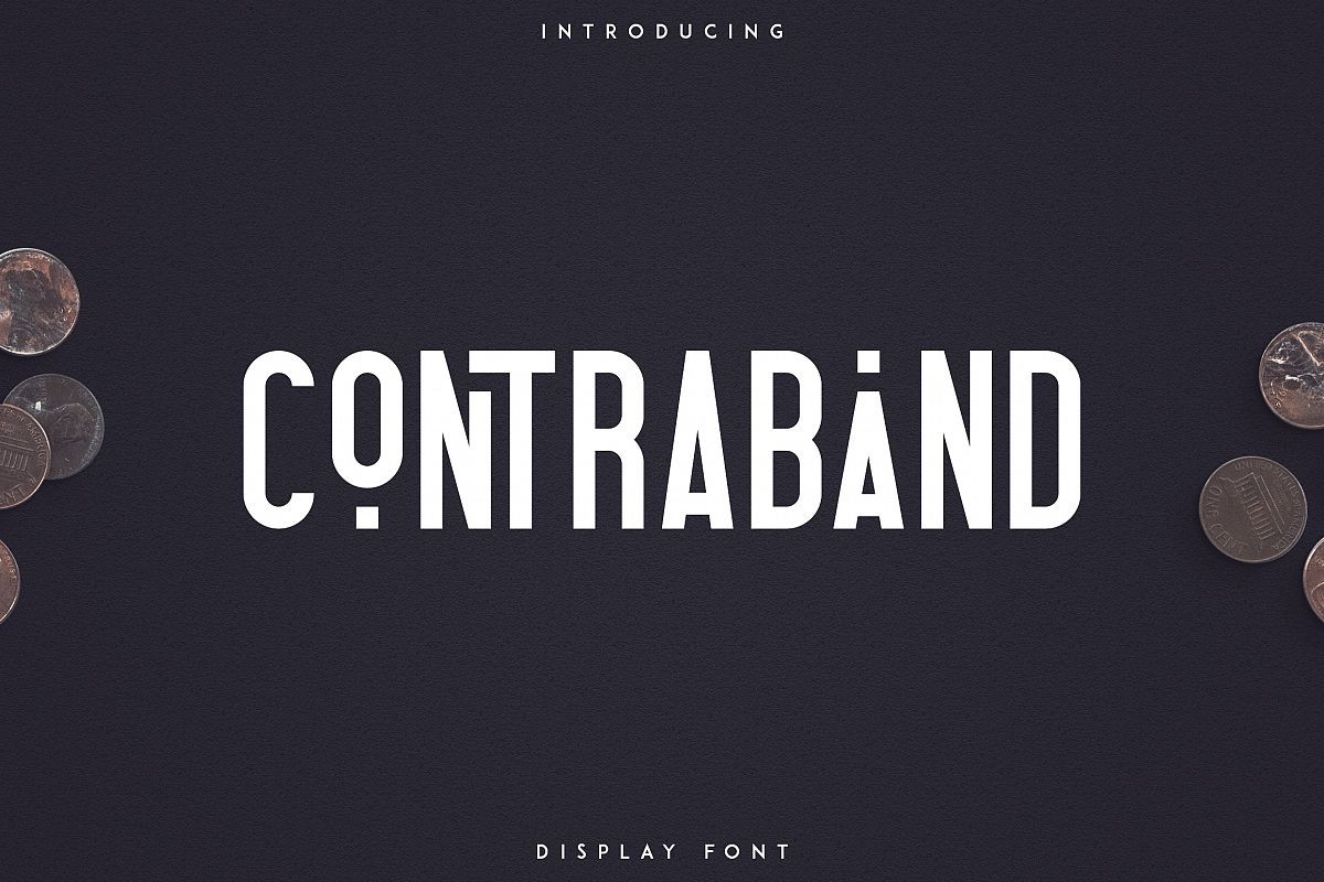 Contraband - Display font example image 1