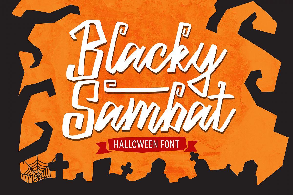 Blacky Sambat - Halloween Font example image 1