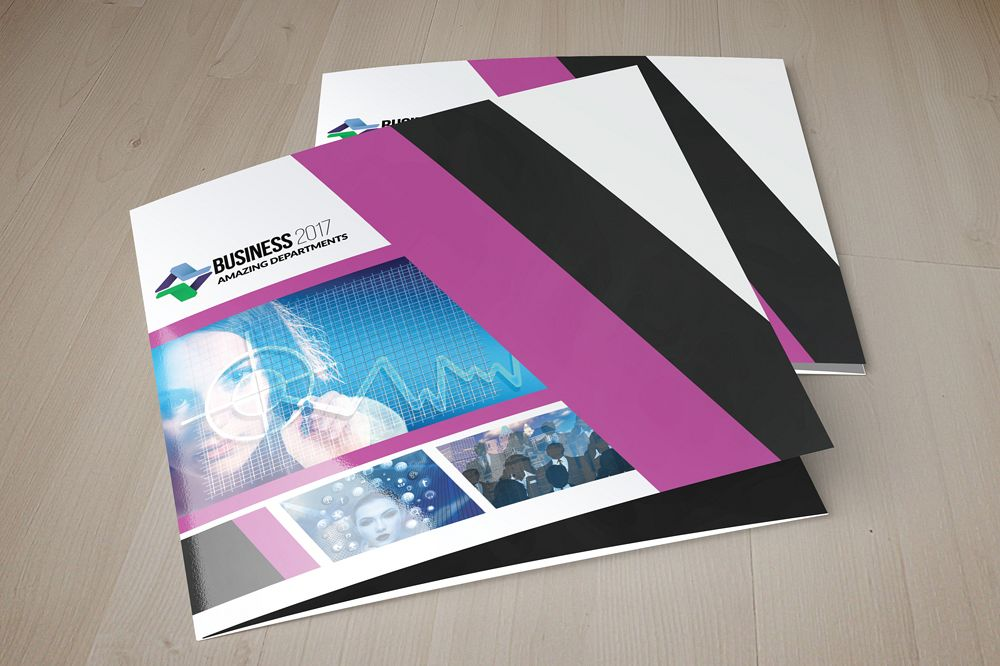 Business Innovation Square Trifold Brochure example image 1