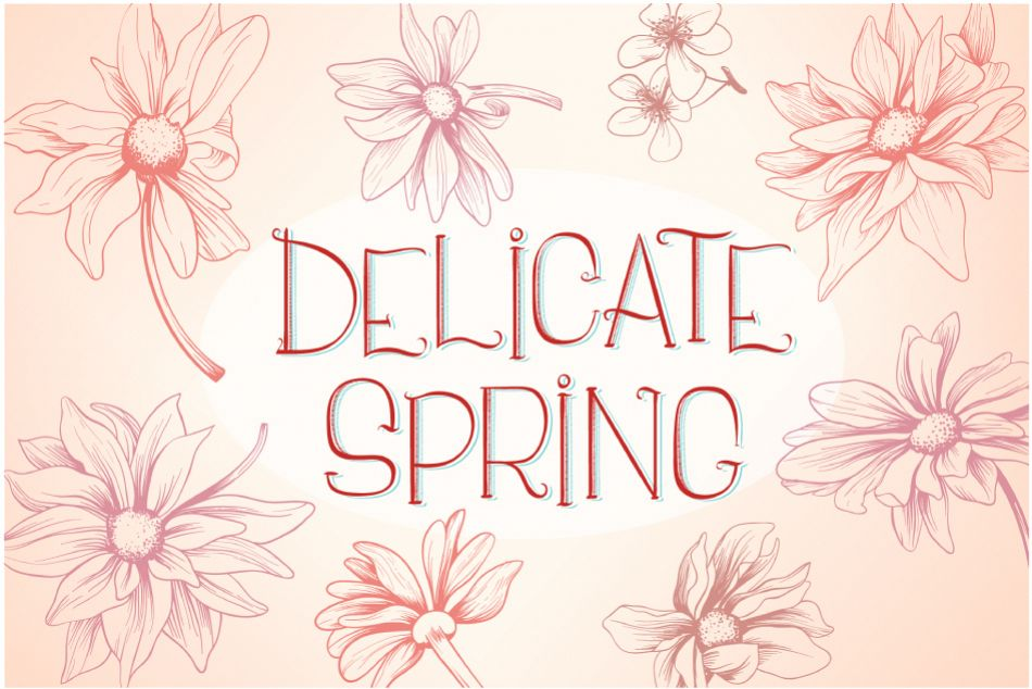 Delicate Spring Flowers example image 1