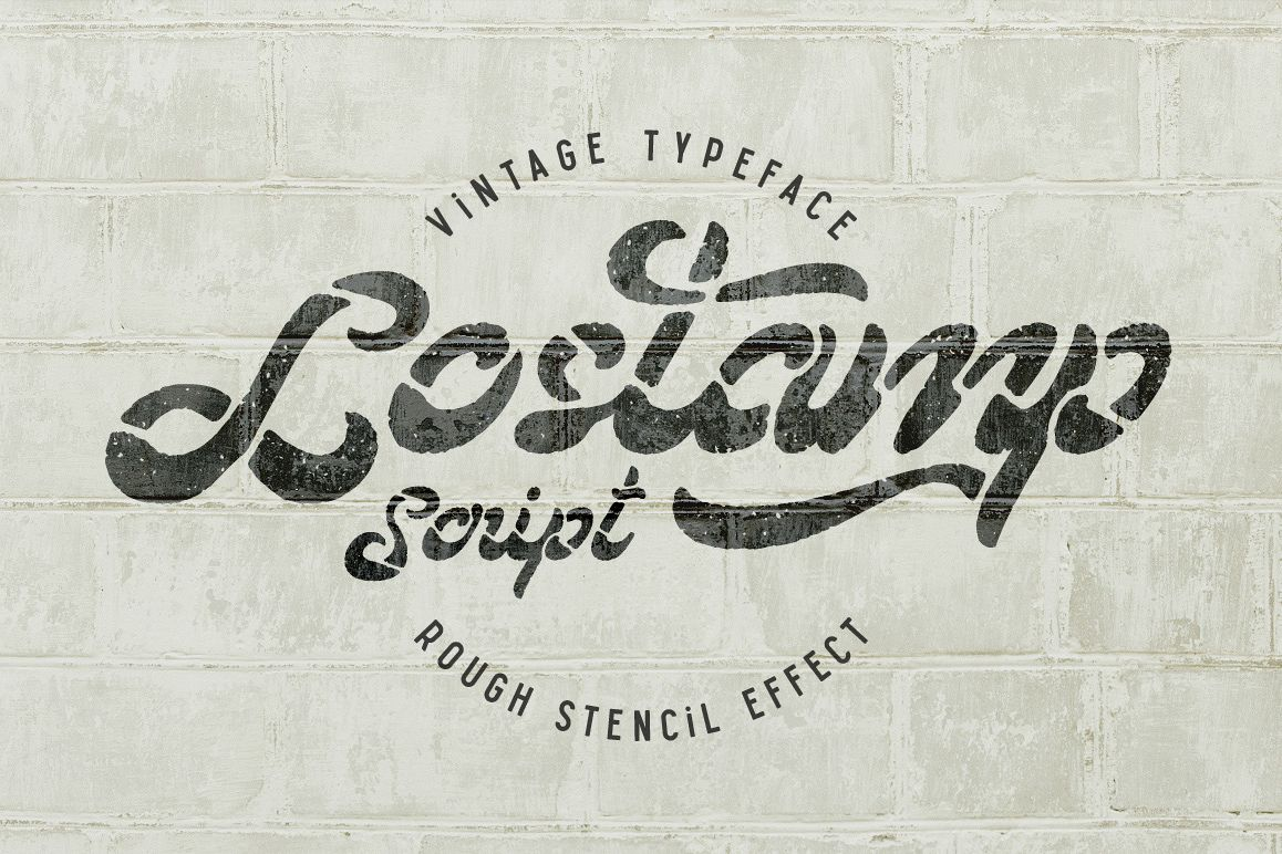Lostamp font example image 1