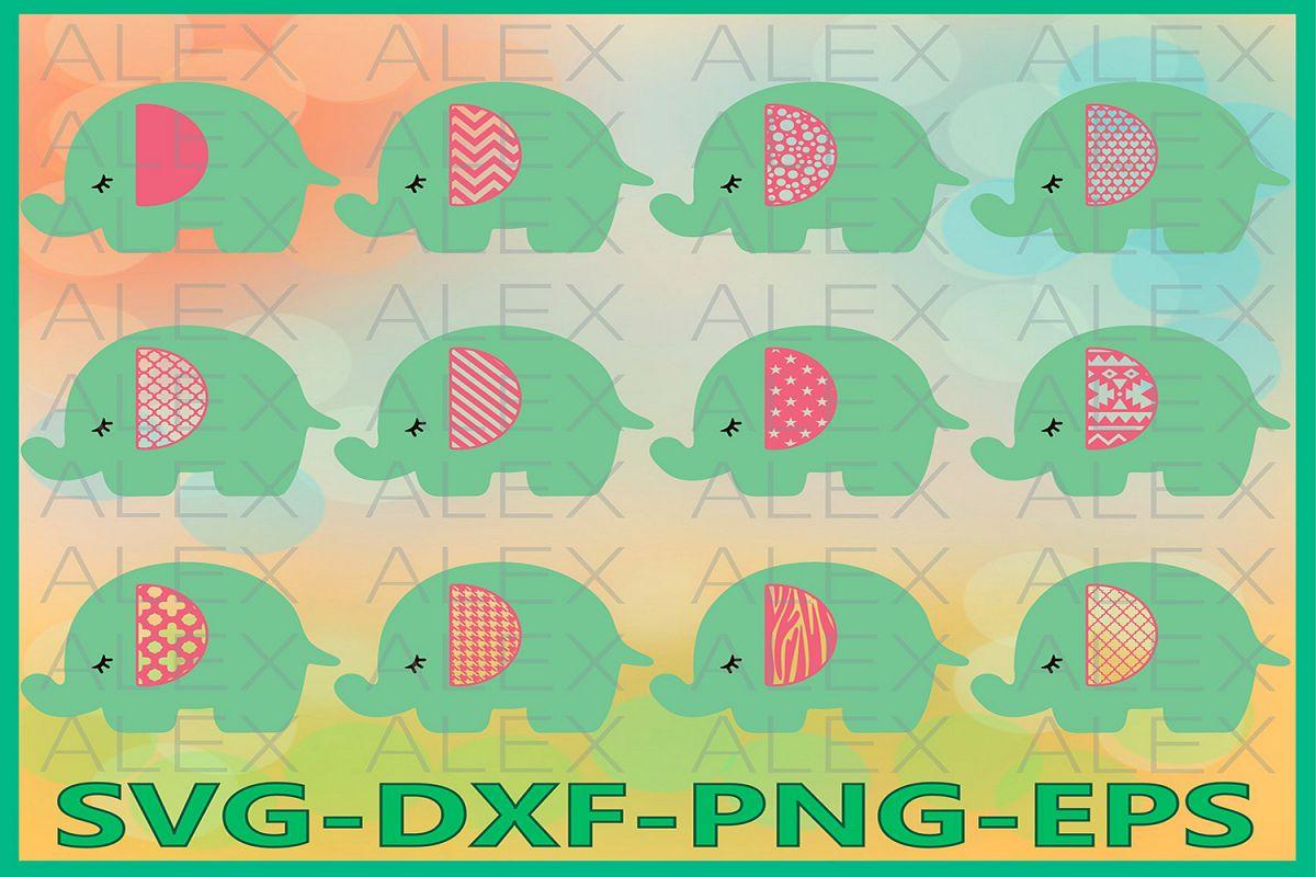 Elephant Clipart, Elephant SVG, Elephant SVG files example image 1
