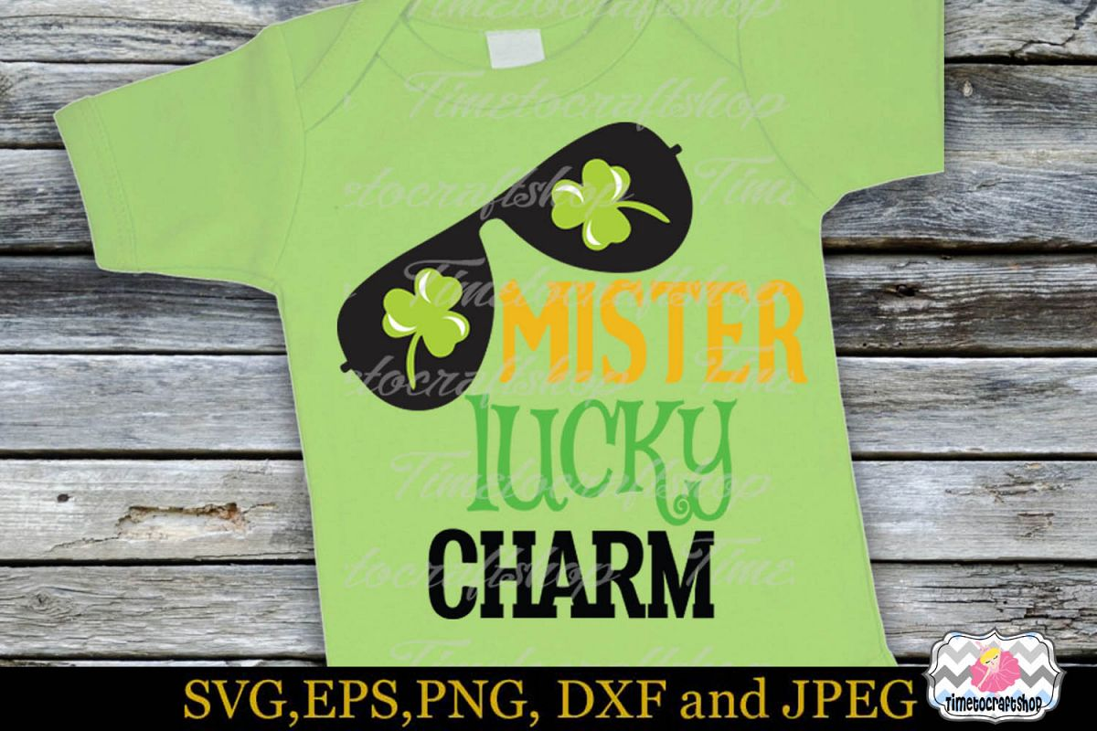 SVG, Dxf, Eps & Png St Patrick's Day Mister Lucky Charm example image 1