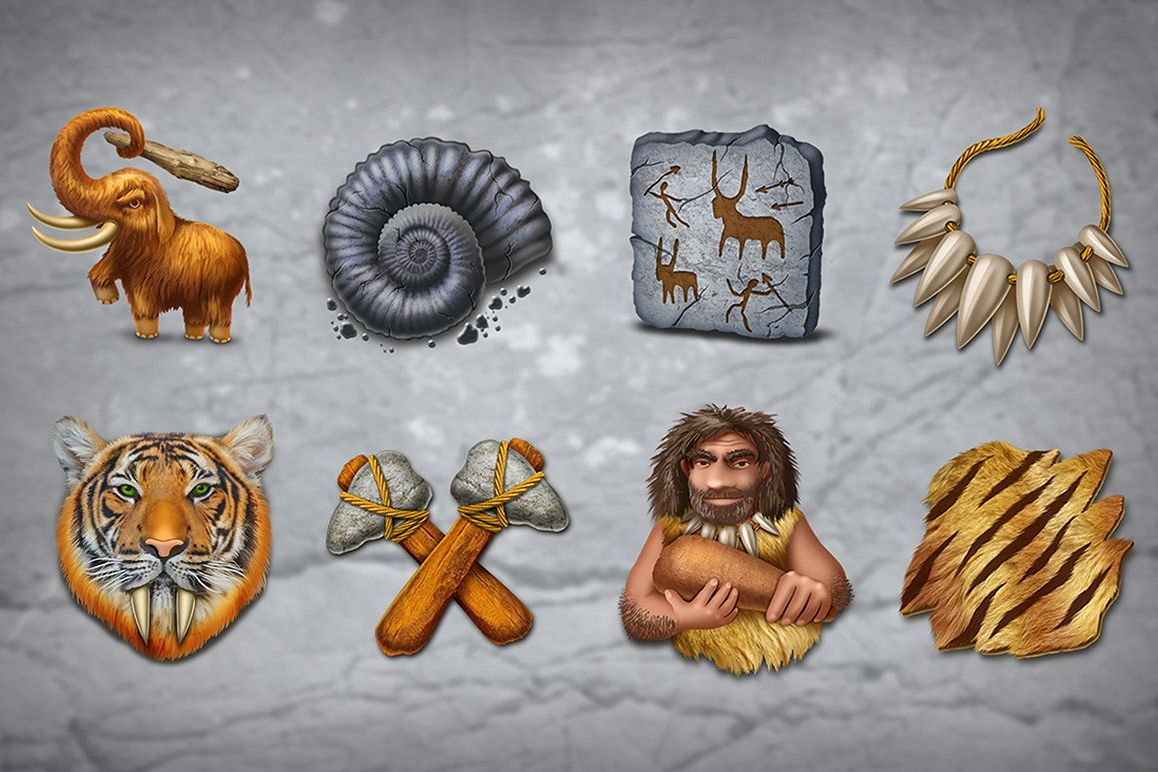 Stone Age Icons set example image 1