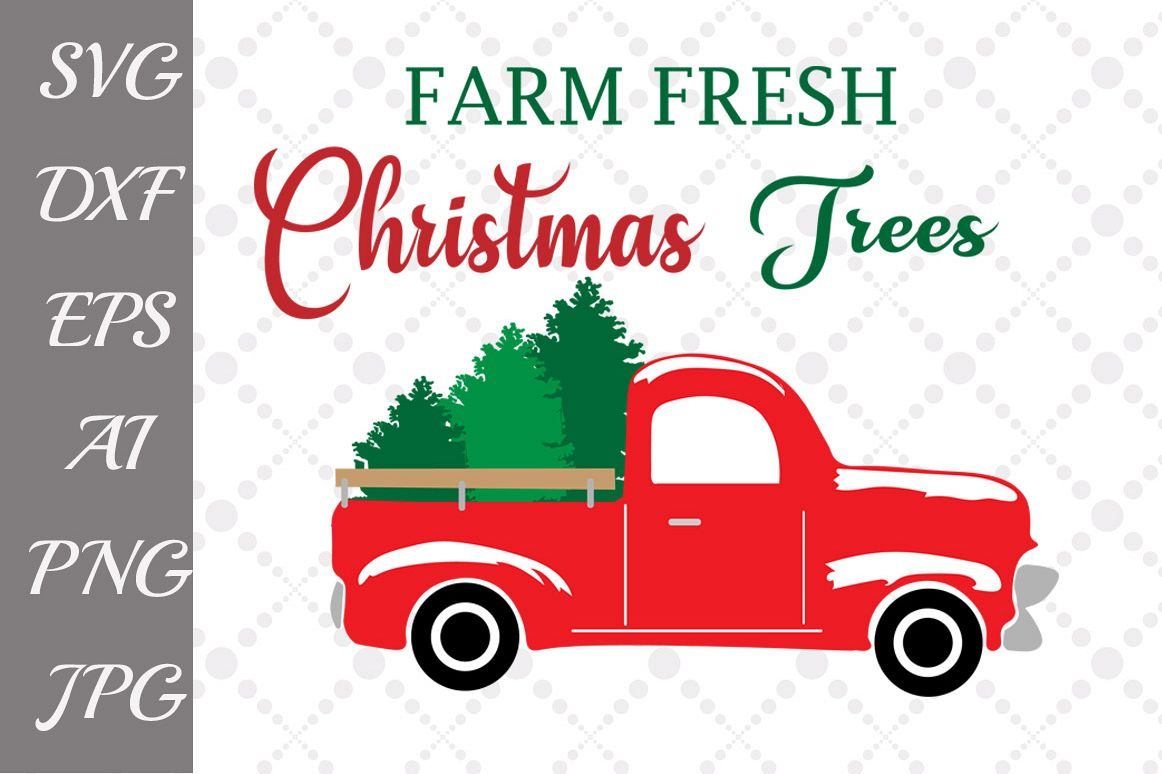 Farm Fresh Christmas Tree Svg example image 1