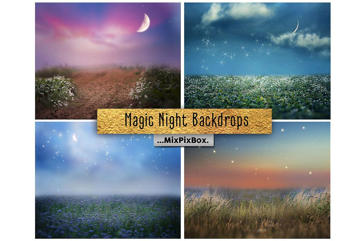 Magic Night Backdrops example image 1