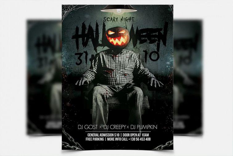 Halloween Night - PSD Flyer Template example image 1