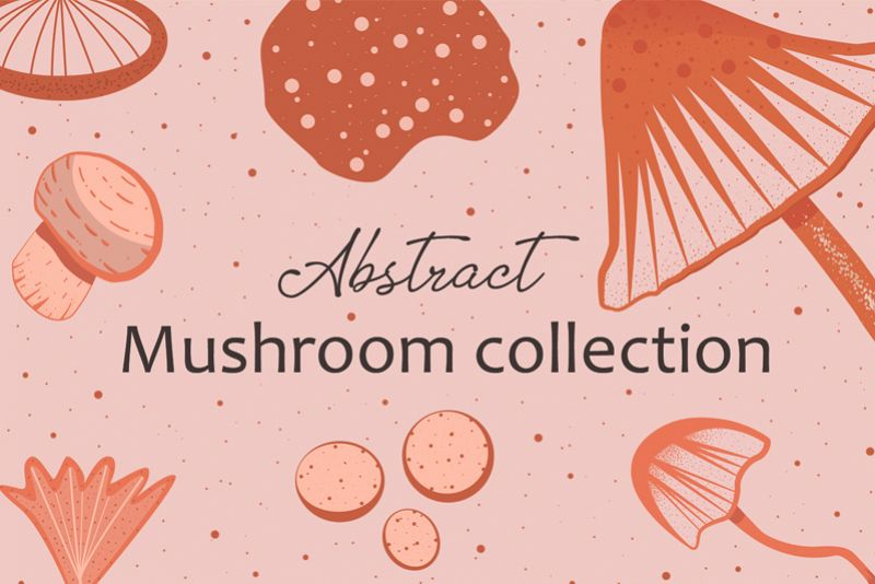 Abstract mushroom collection example image 1