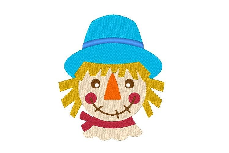 Scarecrow Embroidery Design for Fall example image 1