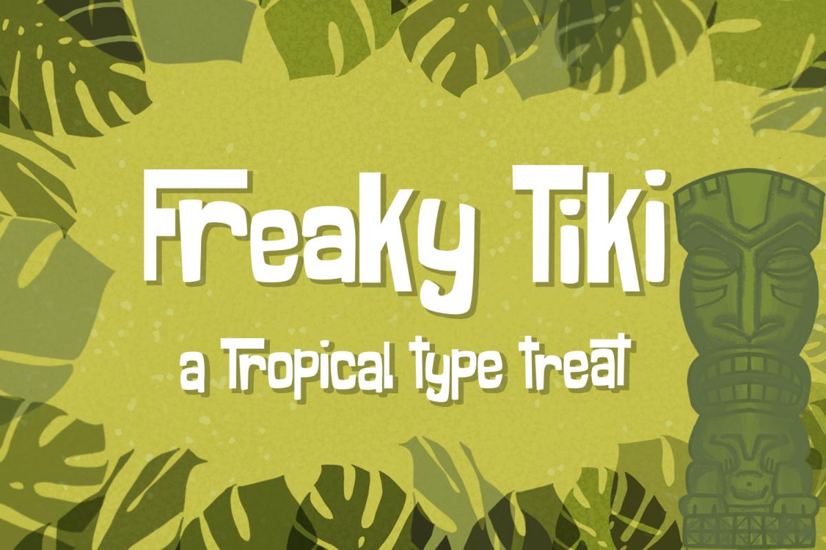 Freaky Tiki - a fun tropical font example image 1