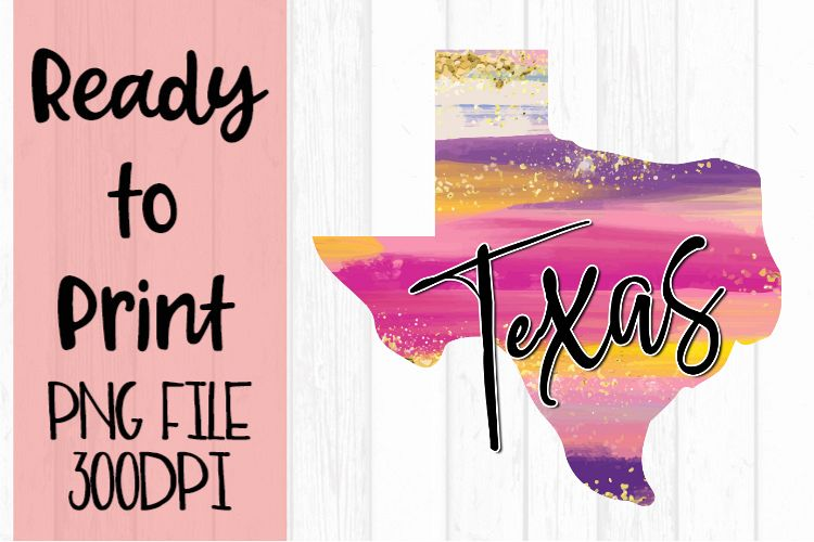 Texas Painted States Ready to Print example image 1