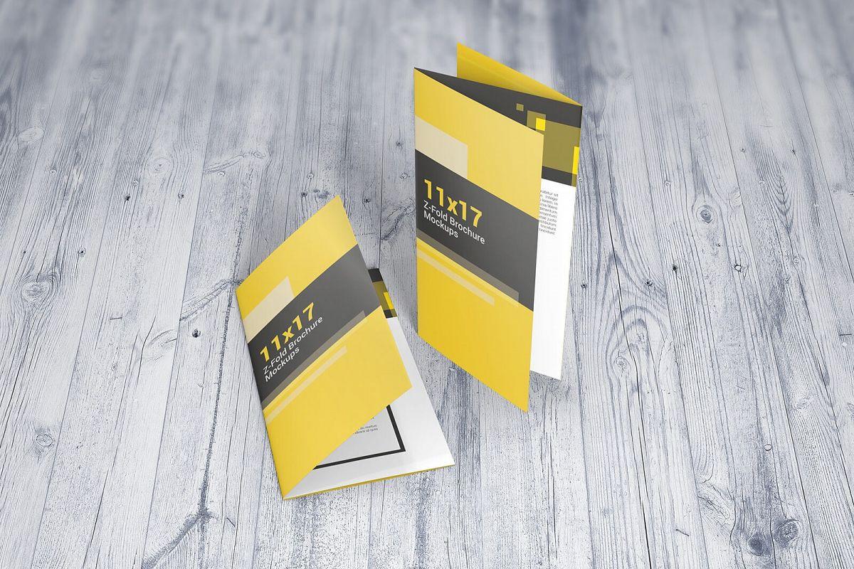 11 17 z fold brochure mockups