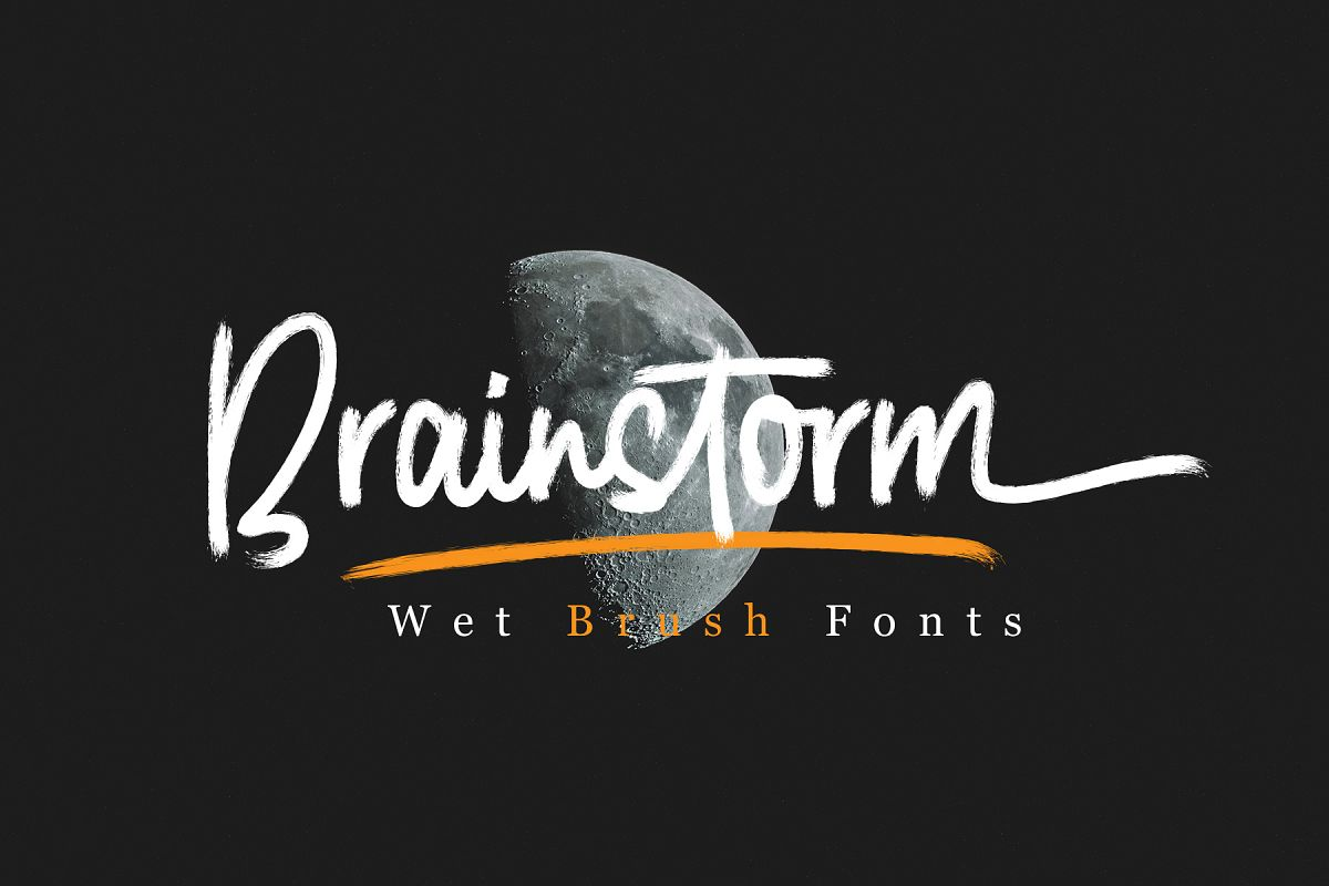 Brainstorm Brush Fonts example image 1
