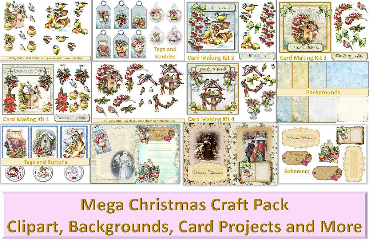 Mega Christmas Craft Bundle COmmercial Use example image 1