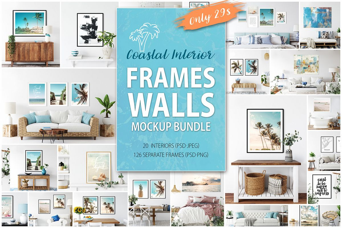Frames & Walls Coastal Mockups Bundle example image 1