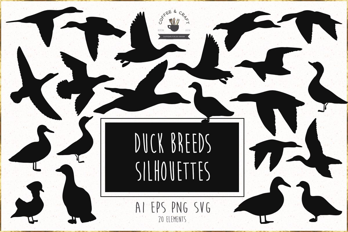 Duck Breeds Silhouettes example image 1