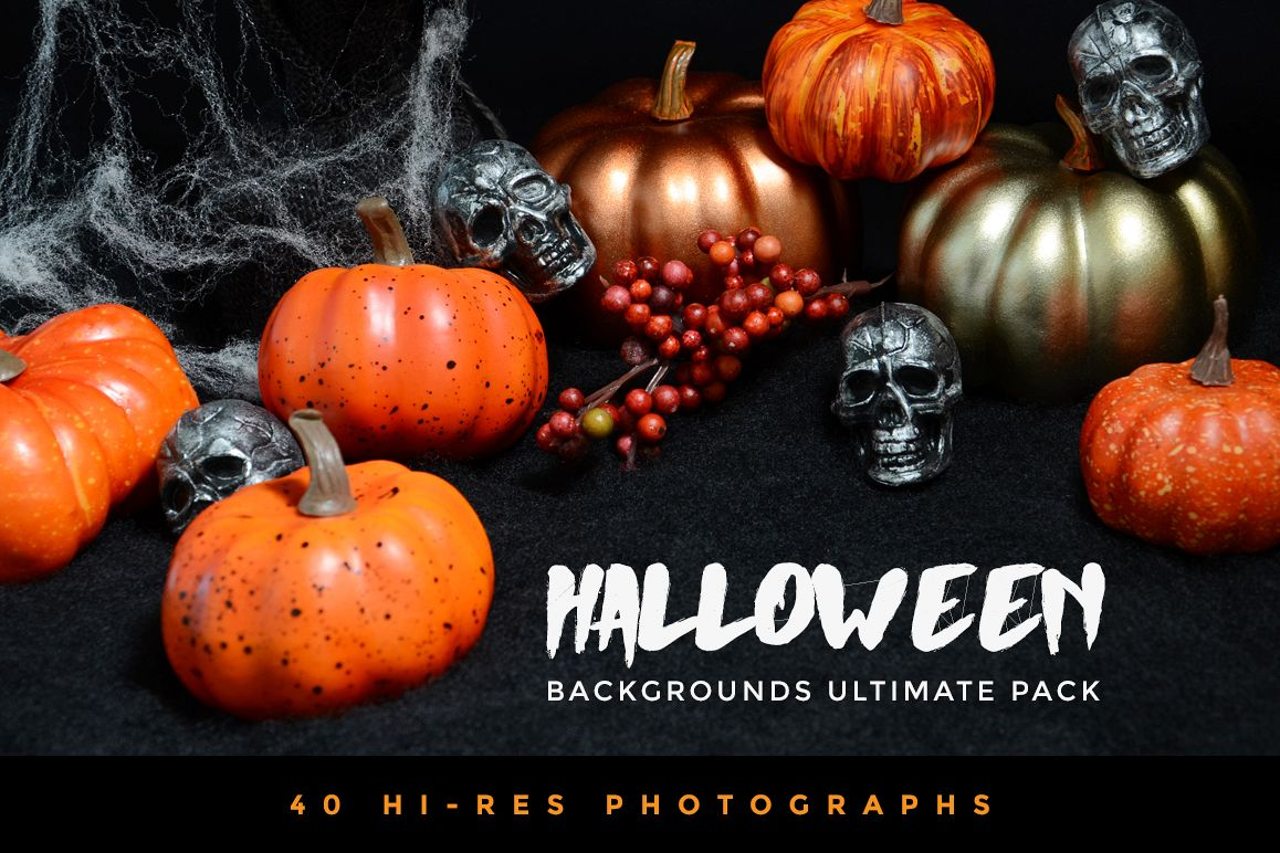 Halloween Backgrounds Ultimate Pack example image 1