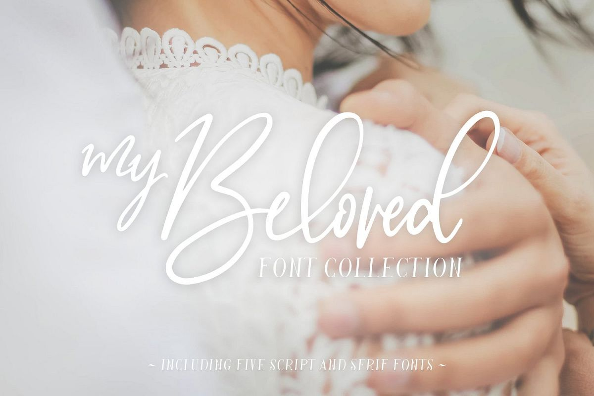 My Beloved ~ Script & Serif Font example image 1