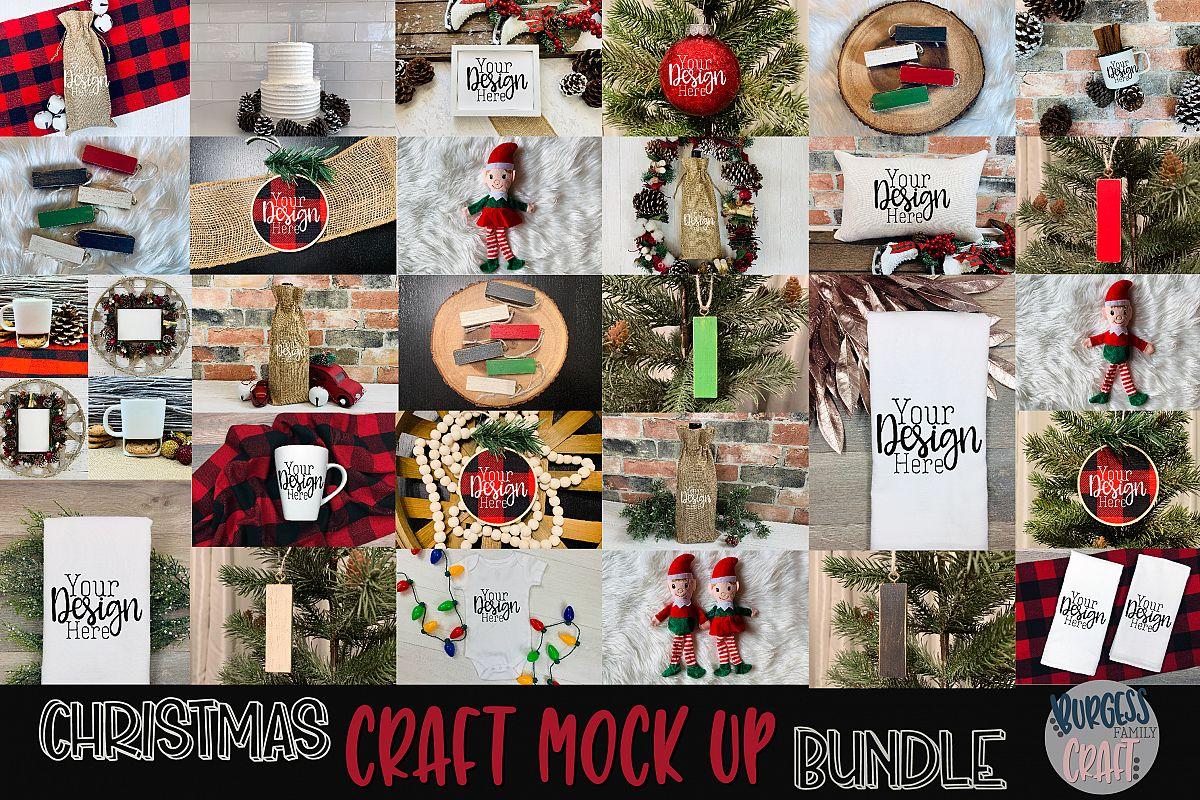 Christmas craft mock up bundle  High Res JPEG example image 1