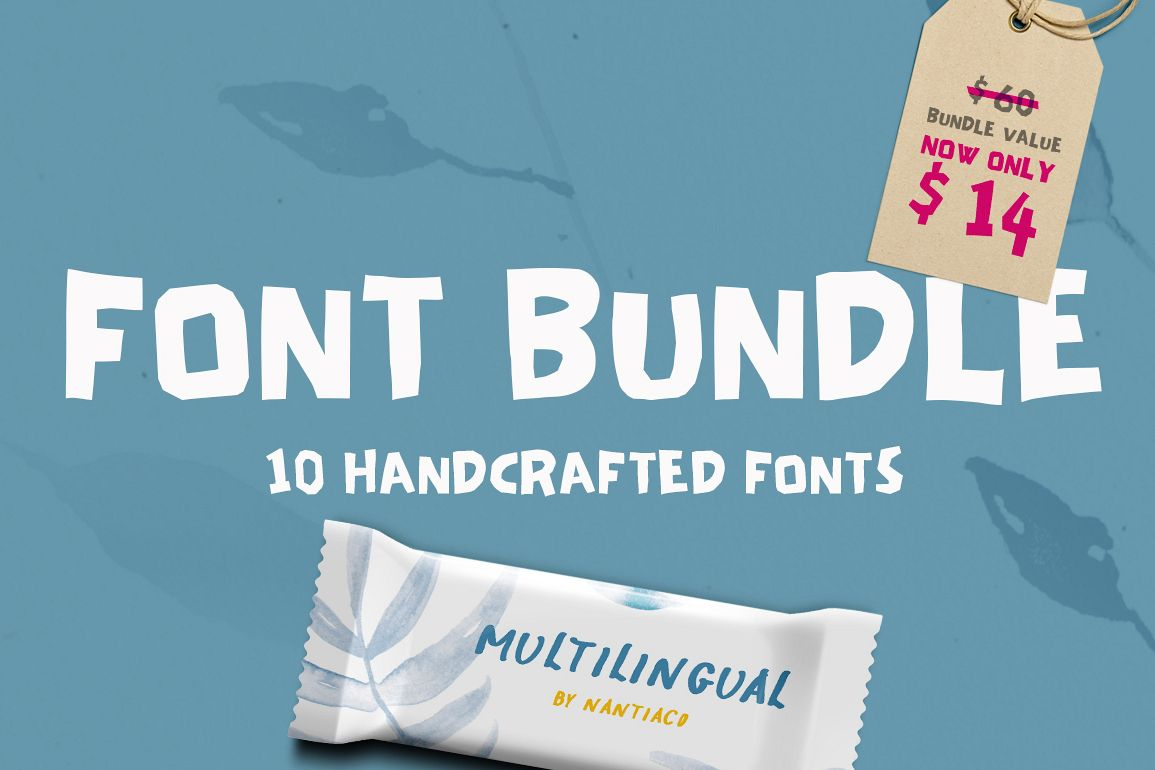 10 Handwritten Font Bundle Pack example image 1