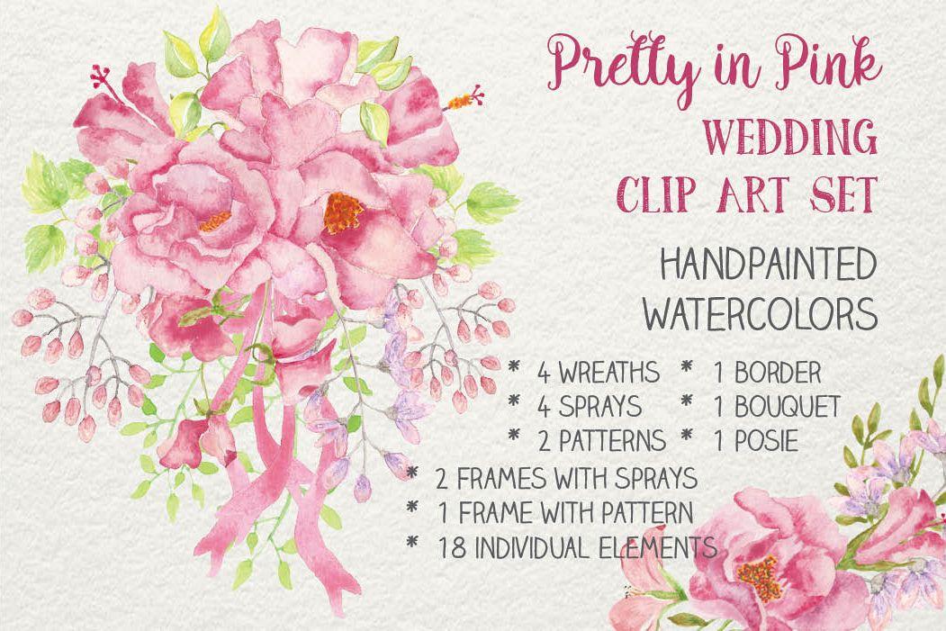 Wedding clip art bundle: