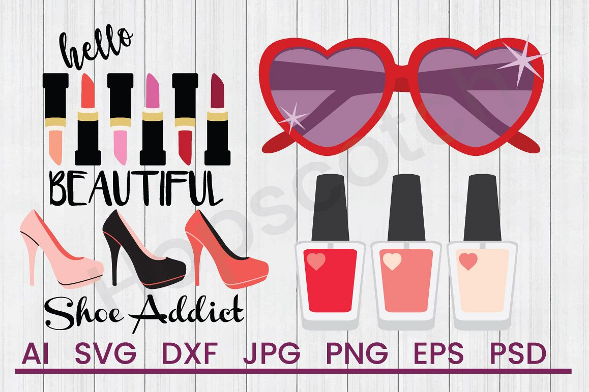 Fashion SVG Bundle, DXF File, Cuttable File example image 1