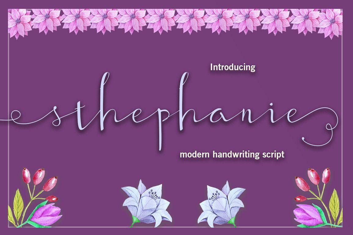 Sthephanie Script example image 1