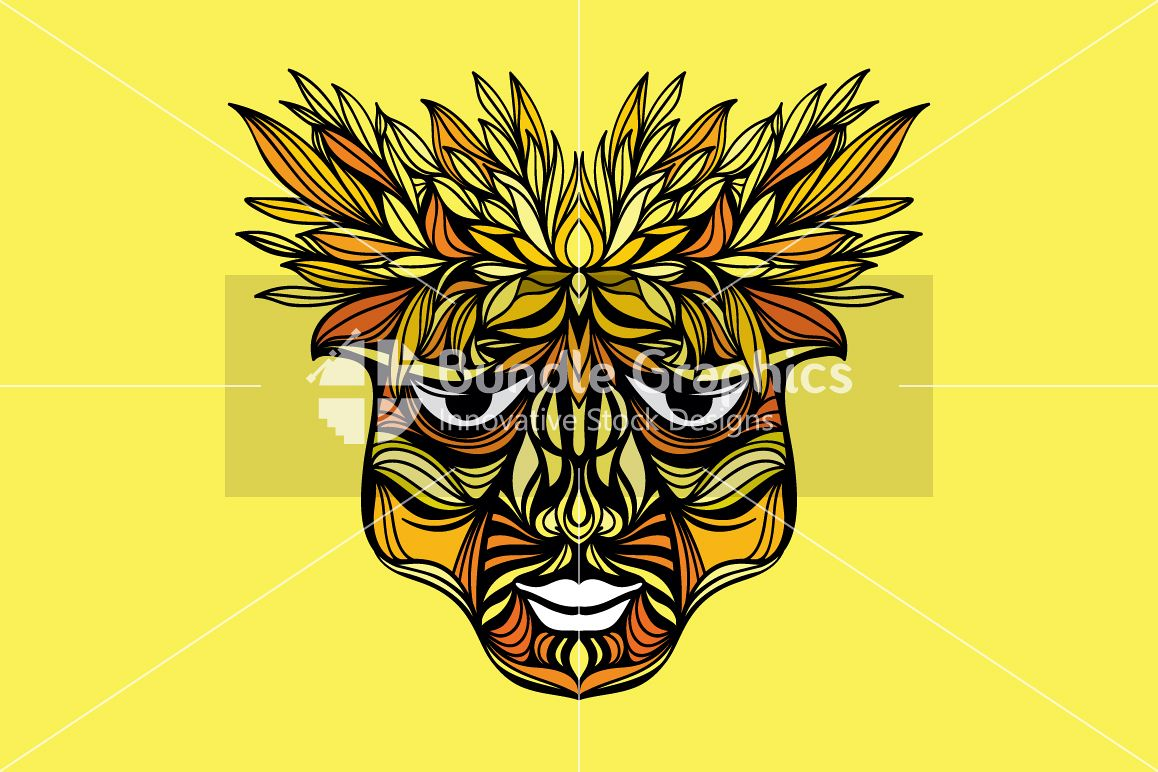 Tribal Face - Artistic Design Composition example image 1