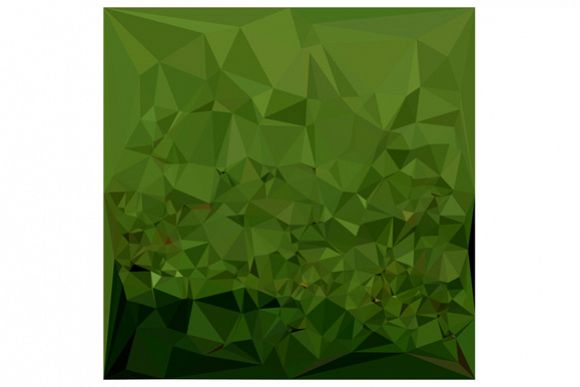 Chlorophyll Green Abstract Low Polygon Background example image 1