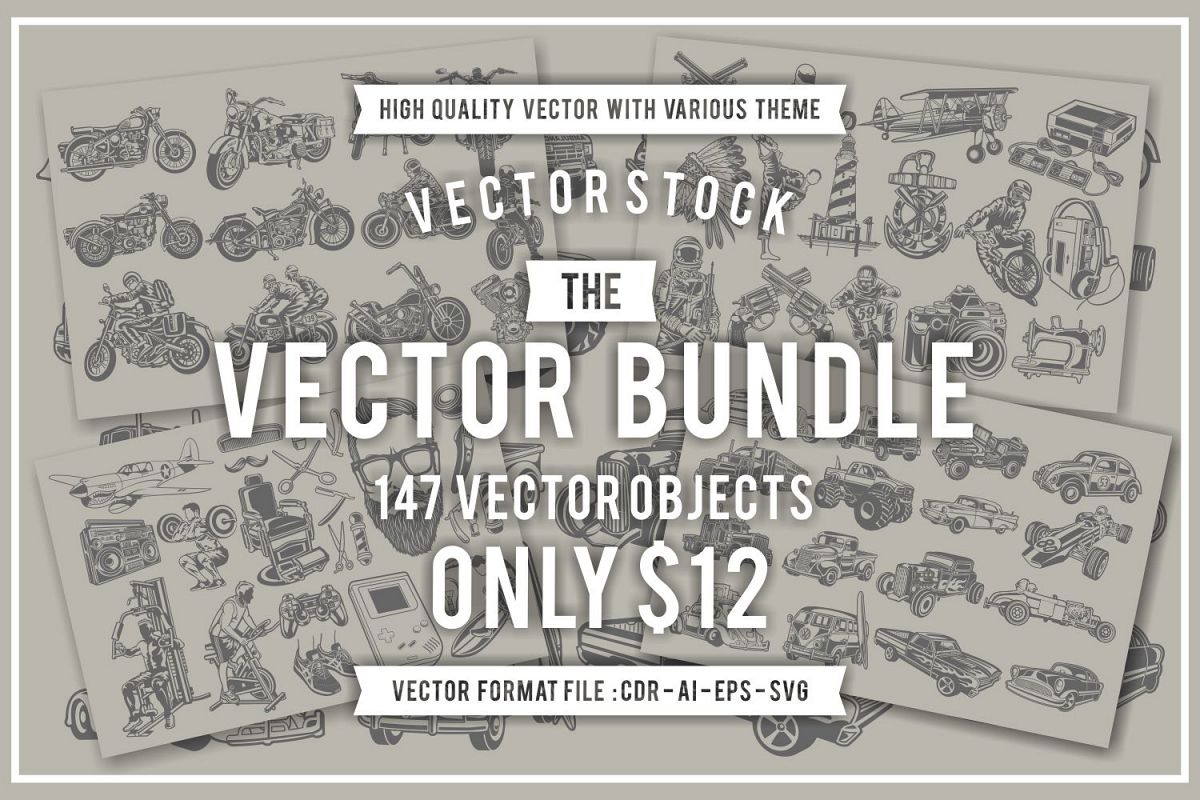 The Vector Bundle - 147 Vector Objects example image 1