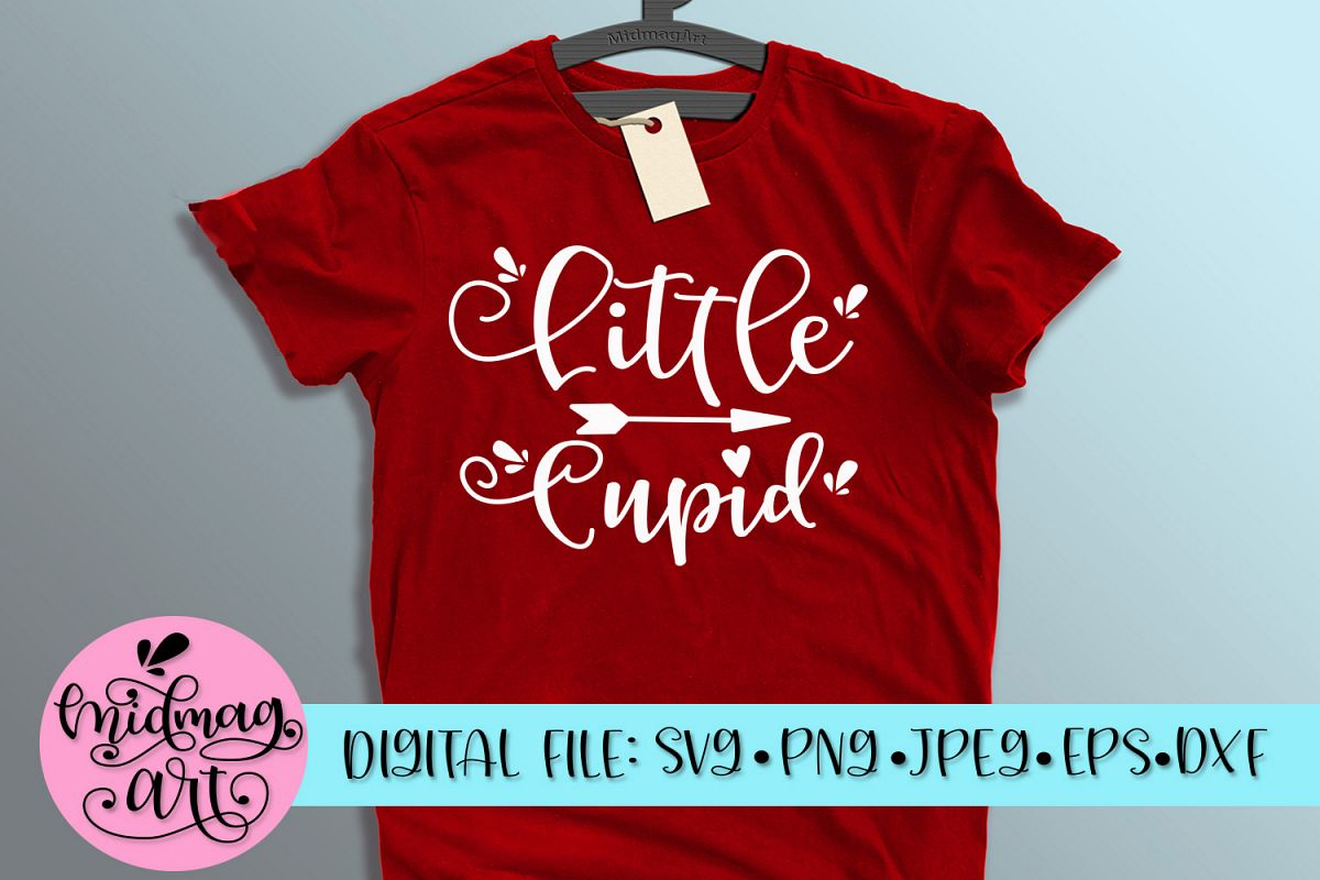 Little Cupid svg, png, jpeg, eps and dxf example image 1