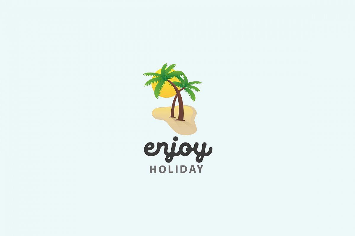 Enjoy Holiday - Logo Template example image 1
