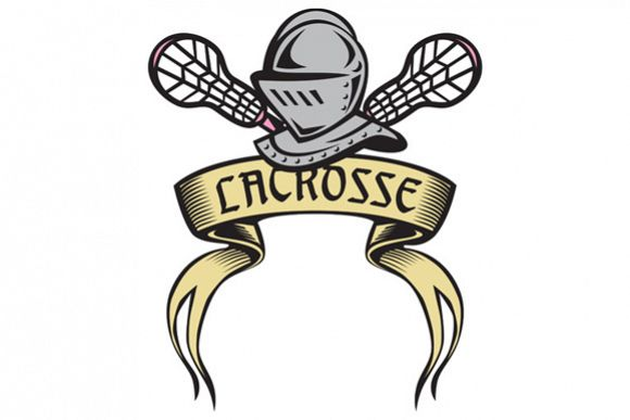 Knight Armor Lacrosse Stick Woodcut example image 1