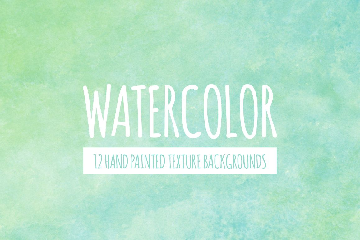 Green and Blue Watercolor Texture Backgrounds example image 1