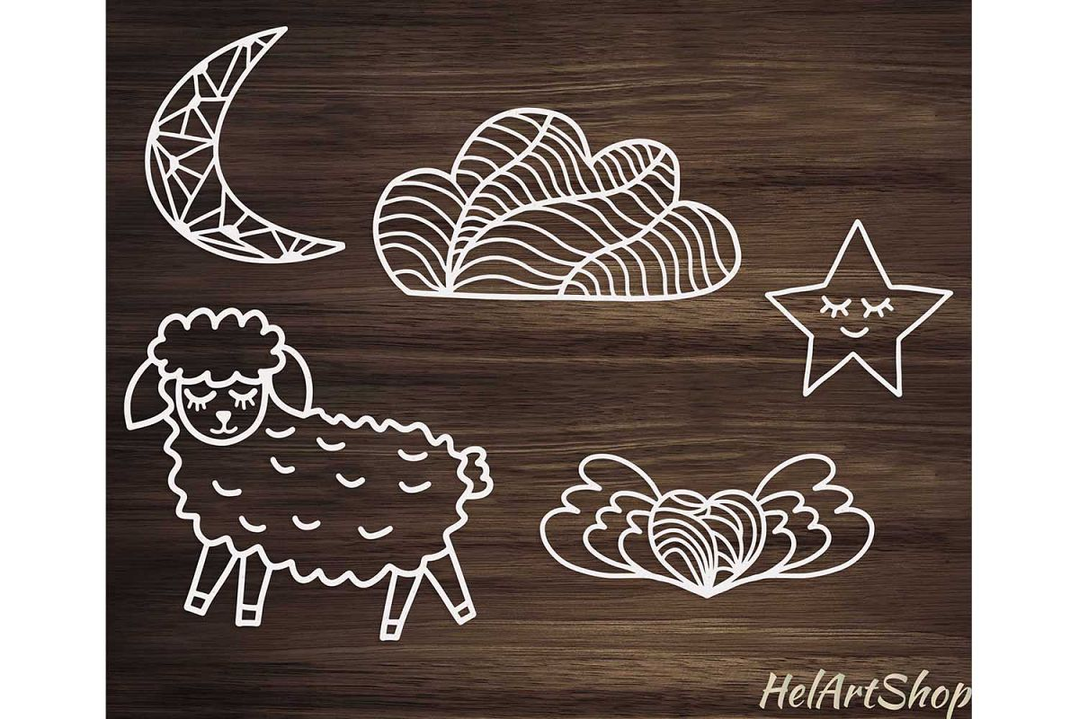 Nursery svg, Cute Sheep svg, Baby svg example image 1