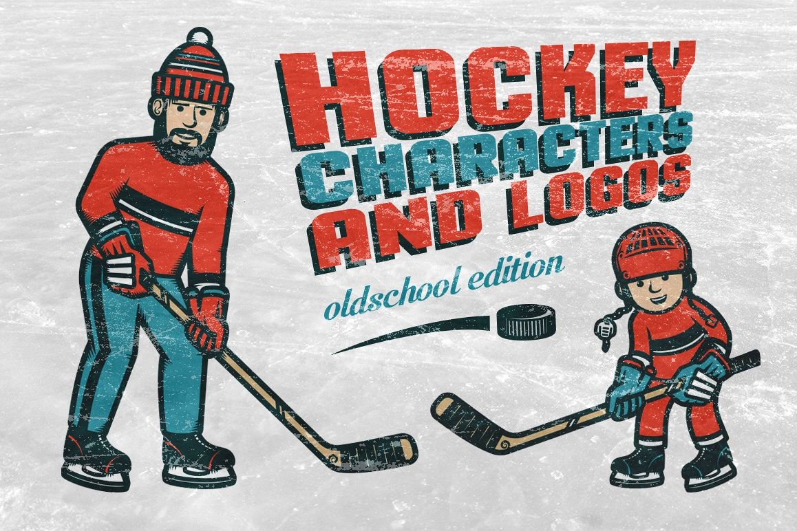 Hockey characters and logos example image 1