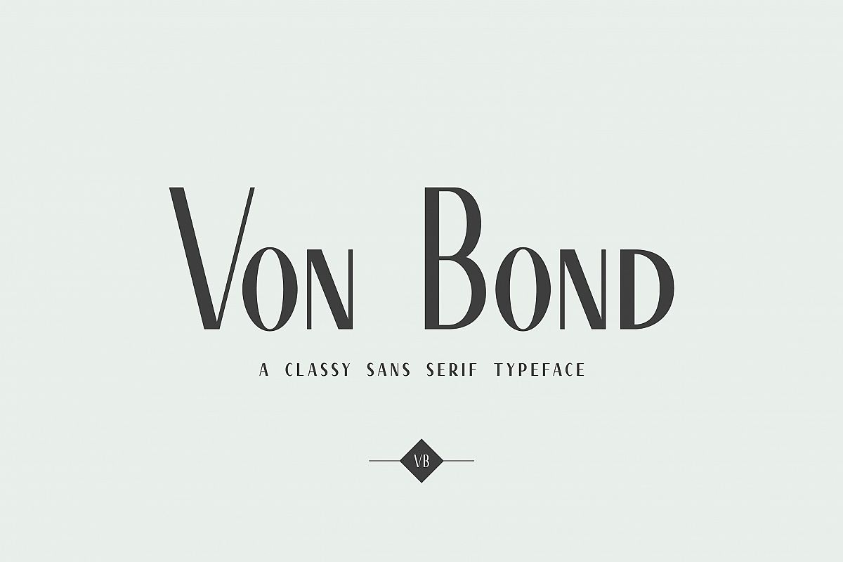 Von Bond - A Classy Sans Serif example image 1