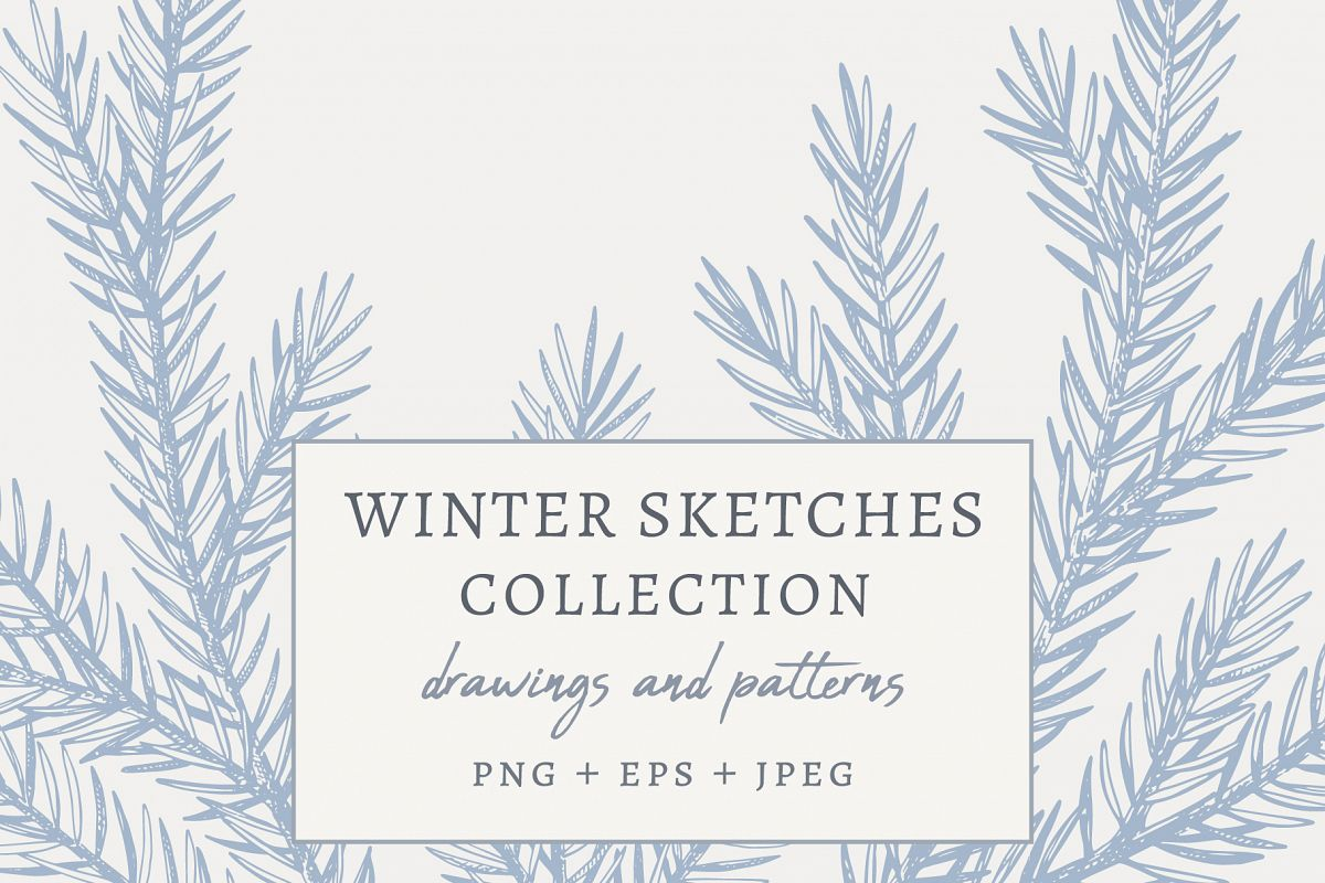Winter Sketches Collection example image 1