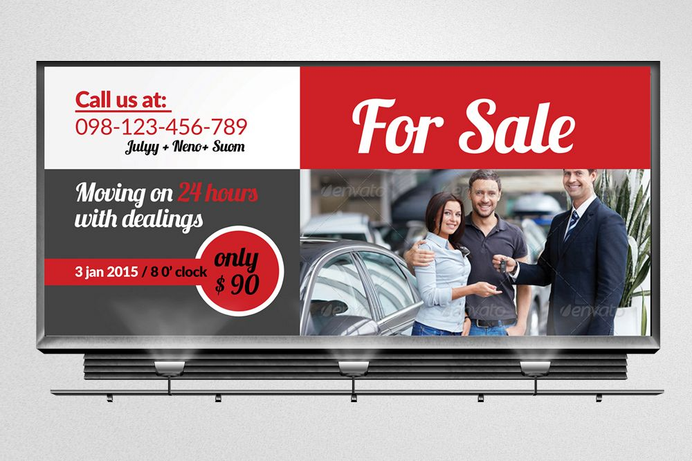 Car Sale Billboard Banners example image 1