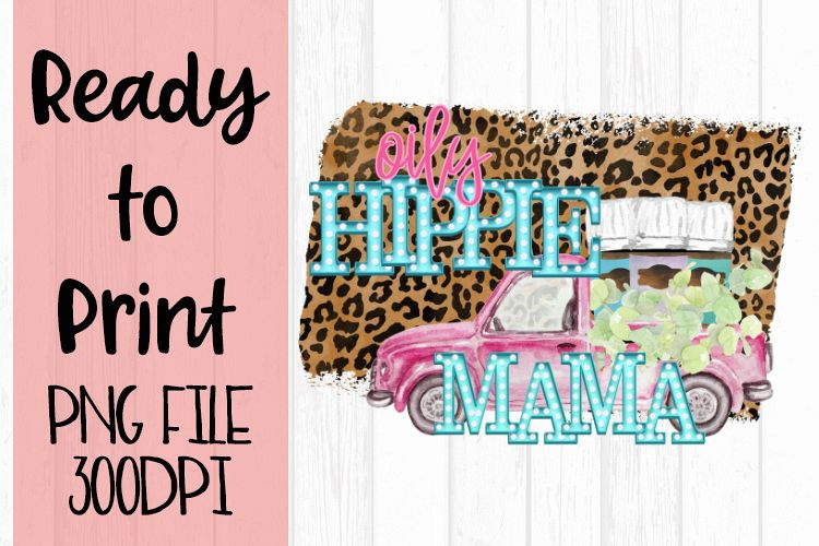 Oily Hippie Mama Gray Ready to Print example image 1