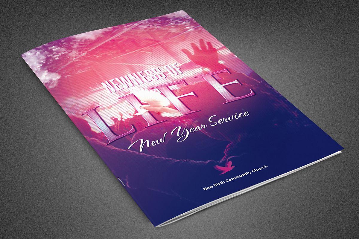 Newness of Life Church Bulletin example image 1