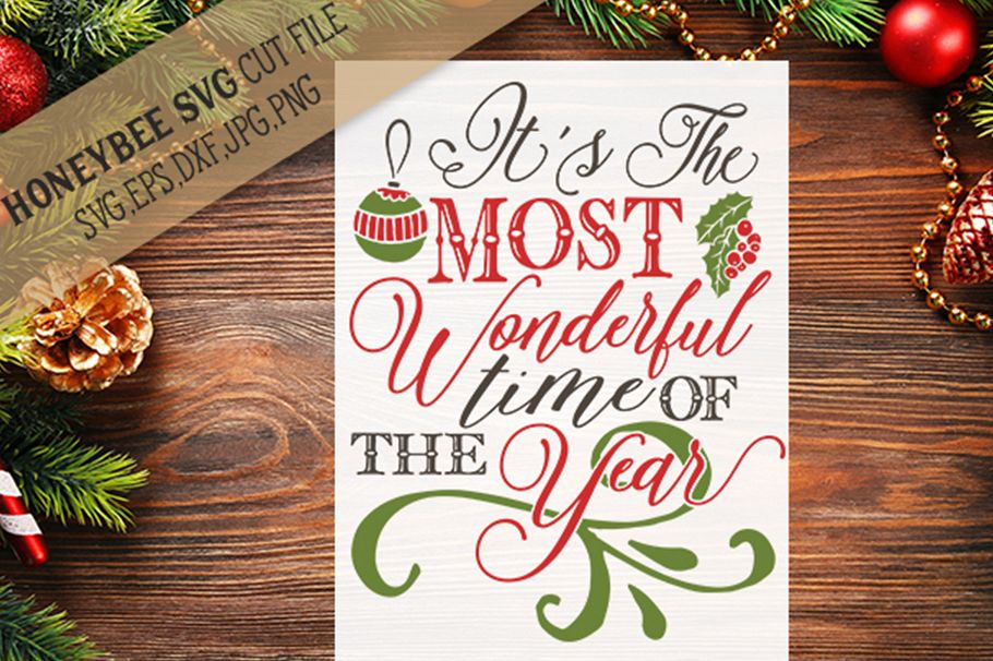 It's The Most Wonderful Time of The Year svg example image 1