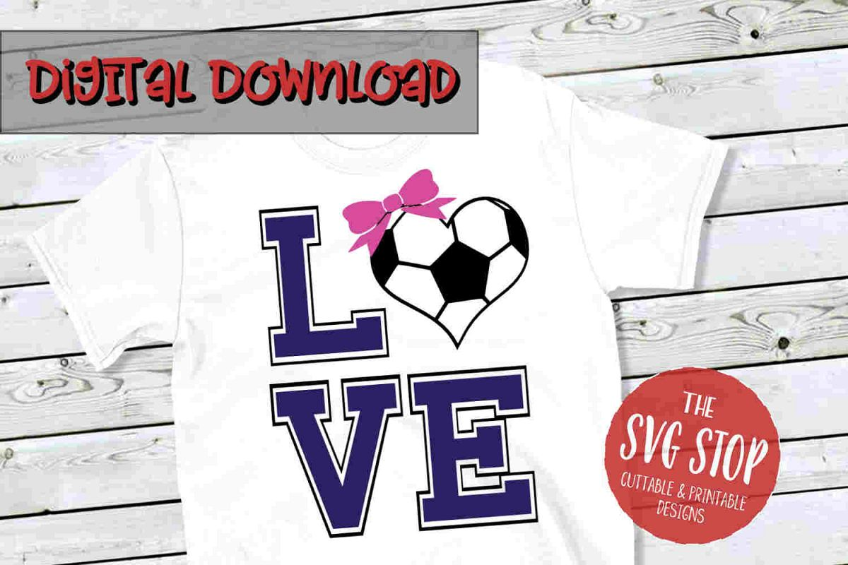 Love Soccer 3-SVG, PNG, DXF example image 1