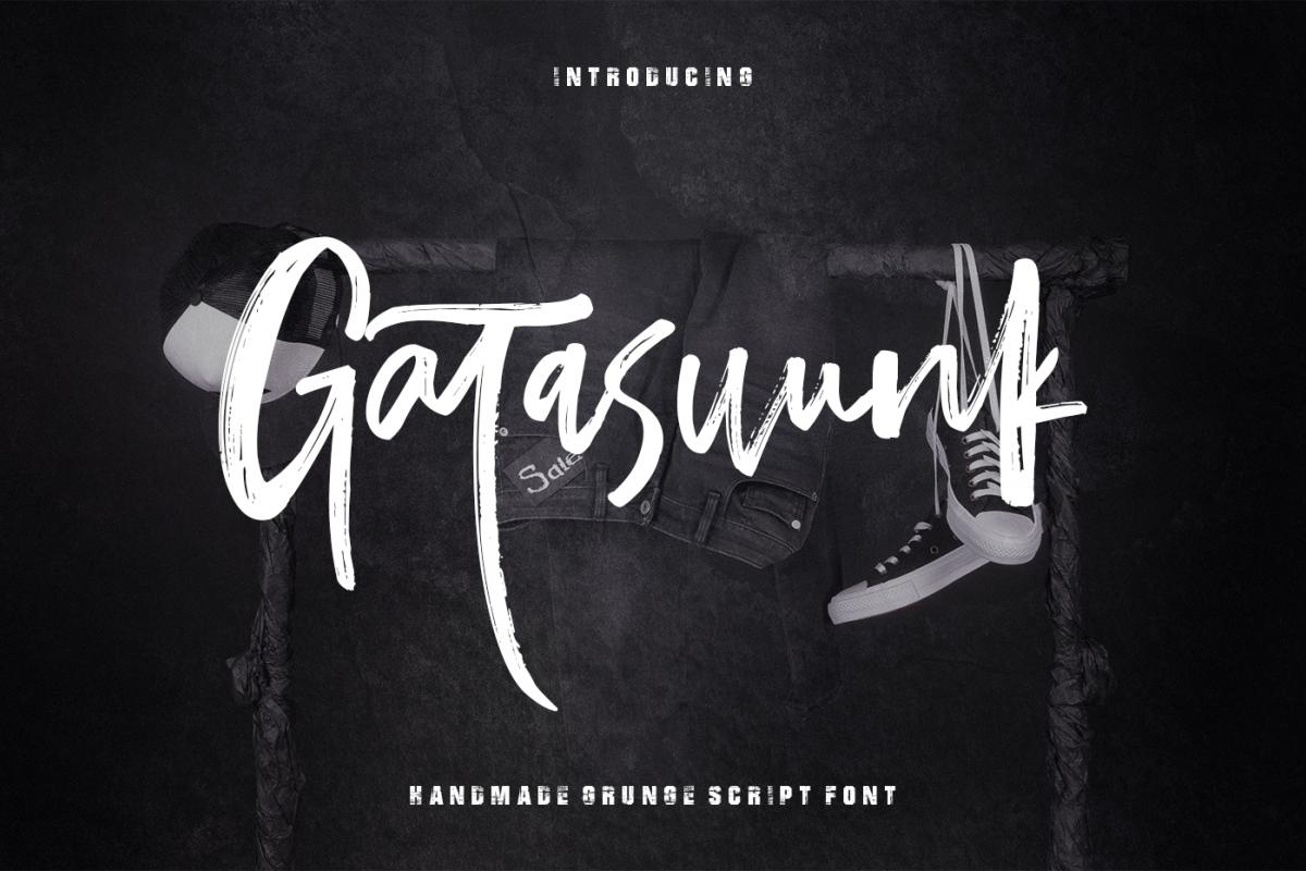 Gatasuunk New Brush Font example image 1