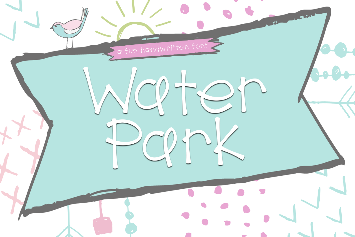 Water Park - A Cute Handwritten Font example image 1